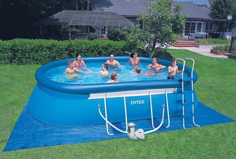 Piscina gonfiabile intex ovale intex for Piscinas rectangulares intex