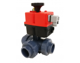 Electrical 3-way ball valve Ø50mm for solar panels - T-bore - no control - type Hidro